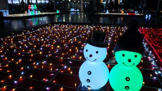 大阪ステーションシティー 雪だるま