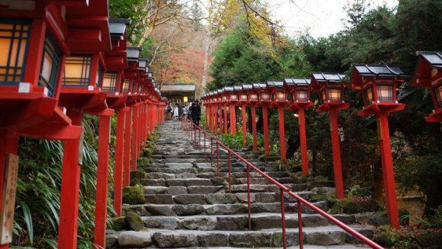 貴船神社の参詣階段
