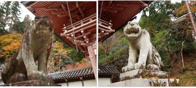山門の狛虎