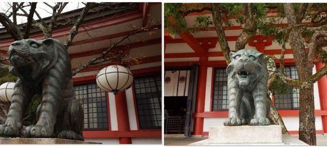 鞍馬寺の狛虎(本堂前)