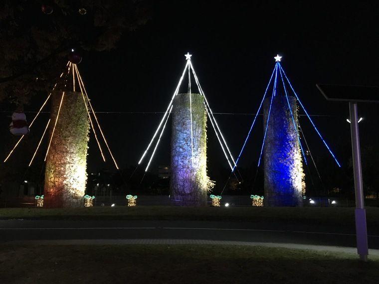 ノリタケの森 クリスマス 煙突イルミネーション