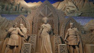 鳥取砂丘「砂の美術館」アイスランド女王への謁見
