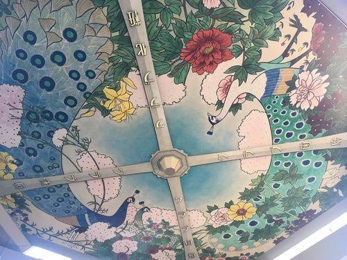 初代通天閣の復刻天井画