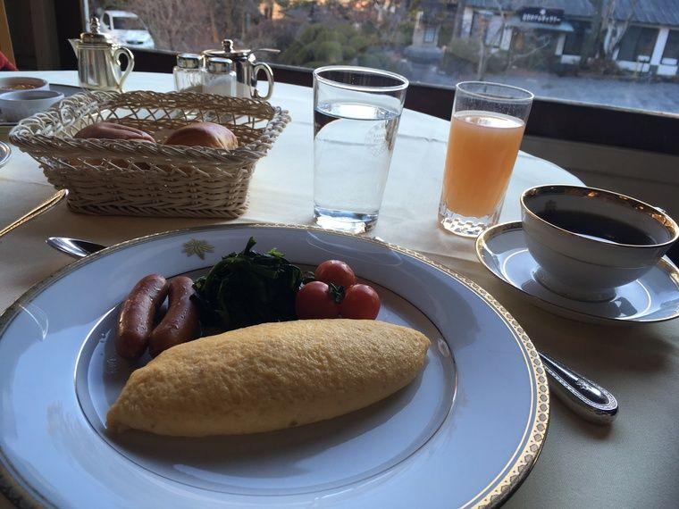 写真:日光金谷ホテルの朝食
